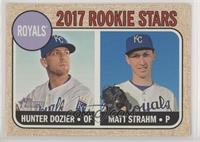 Rookie Stars - Hunter Dozier, Matt Strahm