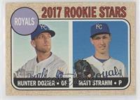 Rookie Stars - Hunter Dozier, Matt Strahm