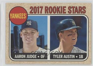 2017 Topps Heritage - [Base] #214.1 - Rookie Stars - Aaron Judge, Tyler Austin (Base)