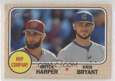 2017 Topps Heritage - [Base] #263 - Kris Bryant, Bryce Harper