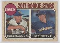 Rookie Stars - Orlando Arcia, Brent Suter