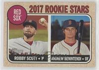 Rookie Stars - Robby Scott, Andrew Benintendi (Base)