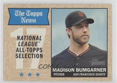 2017 Topps Heritage - [Base] #376 - All-Star - Madison Bumgarner