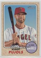 High Number SP - Albert Pujols (Portrait with Bat)