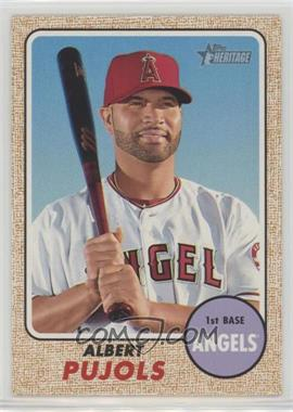 2017 Topps Heritage - [Base] #413.1 - High Number SP - Albert Pujols (Portrait with Bat)