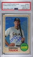 High Number SP - Christian Yelich [PSA/DNA Certified Encased]