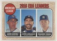 League Leaders - Justin Verlander, Aaron Sanchez, Masahiro Tanaka