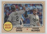 Yonder Alonso, Khris Davis