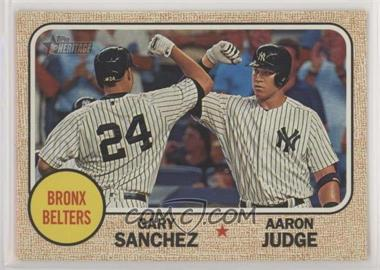 2017 Topps Heritage High Number - Combo Cards #CC-2 - Aaron Judge, Gary Sanchez