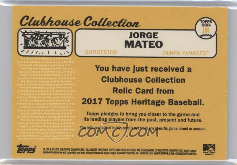 2017 Topps Heritage Minor League Edition Clubhouse Collection