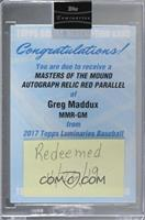 Greg Maddux [Being Redeemed] #/10