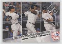 Aaron Judge, Aaron Hicks, Gary Sanchez #/1,541