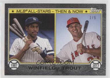 2017 Topps On Demand - 1987 All-Star Then & Now - Topps Online Exclusive Black #D2B - Dave Winfield, Mike Trout /5