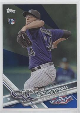 2017 Topps Opening Day - [Base] - Rainbow Blue Foil #136 - Jeff Hoffman