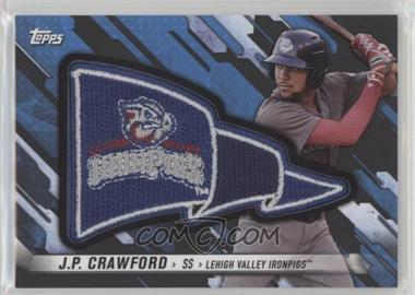2017 Topps Pro Debut - Pennant Patches - Black #PP-JC - J.P. Crawford /1