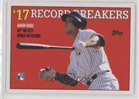 1988 Topps Baseball Record Breakers Design - Aaron Judge /892