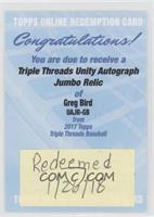 Greg Bird /99 [BeingRedeemed]