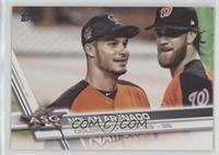 Short Print Variation - Nolan Arenado (Posed with Bryce Harper)