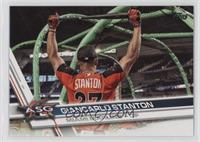 Short Print Variation - Giancarlo Stanton (Holding Bat Over Head)