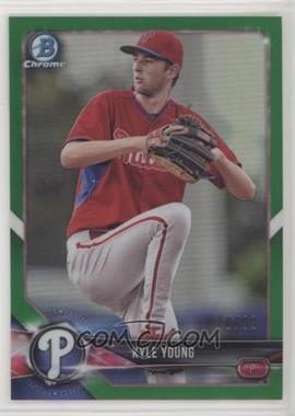 2018 Bowman - Chrome Prospects - Green Refractor #BCP129 - Kyle Young /99