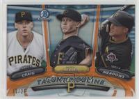 Austin Meadows, Mitch Keller, Will Craig #/25