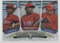 Scott Kingery, Franklyn Kilome, Sixto Sanchez