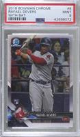 Rookie Photo Variation - Rafael Devers (Swinging Bat) [PSA 9 MINT]