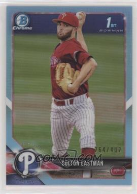 2018 Bowman Draft - Chrome - Sky Blue Refractor #BDC-96 - Colton Eastman /402
