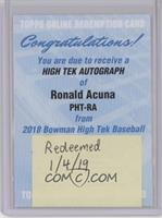 Ronald Acuna [Being Redeemed]