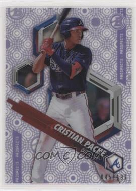 2018 Bowman High Tek - Prospects - Pattern 1 Circles Purple Rainbow Diffractor #PHT-CP - Cristian Pache /191