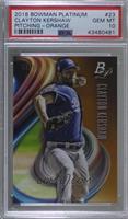Base - Clayton Kershaw (Pitching) /25 [PSA10GEMMT]