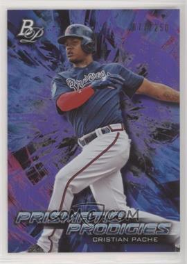 2018 Bowman Platinum - Platinum Prismatic Prodigies - Purple #PPP-18 - Cristian Pache /250