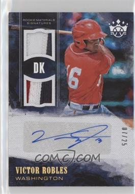 2018 Panini Diamond Kings - DK Rookie Materials Signatures - Holo Gold #RMS-VR - Victor Robles /25
