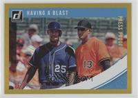 Multiplayer Horizontal - Manny Machado, Byron Buxton #/99