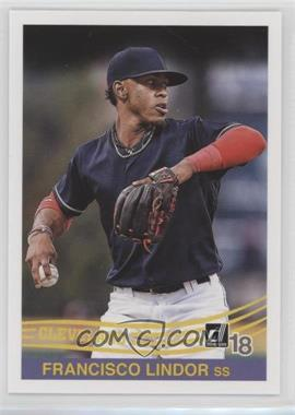2018 Panini Donruss - [Base] #234.2 - Retro 1984 Variations - Francisco Lindor (Throwing)