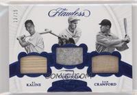 Al Kaline, Charlie Gehringer, Sam Crawford #/15