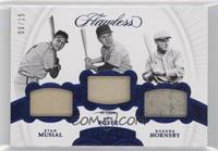 Stan Musial, Ken Boyer, Rogers Hornsby #/15