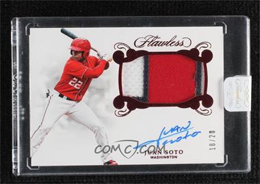 2018 Panini Flawless - Rookie Patch Autographs - Ruby #RPA-JS - Juan Soto /20 [Uncirculated]
