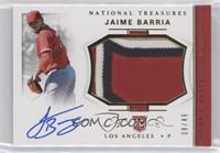 Rookie Materials Signatures - Jaime Barria /49