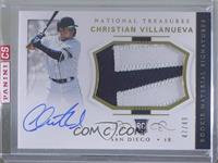 Rookie Materials Signatures - Christian Villanueva [Uncirculated] #/49