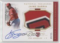 Rookie Materials Signatures - Jaime Barria /25