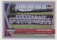 Team Checklist - USA Baseball 18U National Team #/25