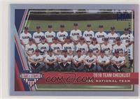 Team Checklist - USA Baseball 15U National Team [EXtoNM] #/49