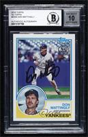 Don Mattingly [BASCertifiedBGSEncased]