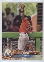 Marcell Ozuna (Catch at Wall)