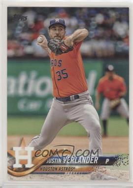 2018 Topps - [Base] #650.1 - Justin Verlander (Orange Jersey) - Courtesy of COMC.com