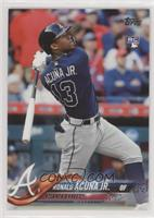 Late Rookie Variation - Ronald Acuna Jr. (Bat Behind Back)