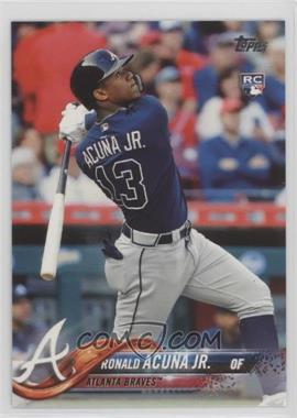 2018 Topps - [Base] #698.2 - Late Rookie Variation - Ronald Acuna Jr. (Bat Behind Back)