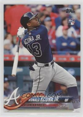 2018 Topps - [Base] #698.2 - Late Rookie Variation - Ronald Acuna Jr. (Bat Down SP)