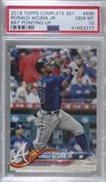 Factory Set Variation - Ronald Acuna (Bat Vertical) [PSA 10 GEM …